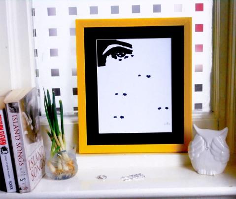 THE EYE ART PRINT WINDOW