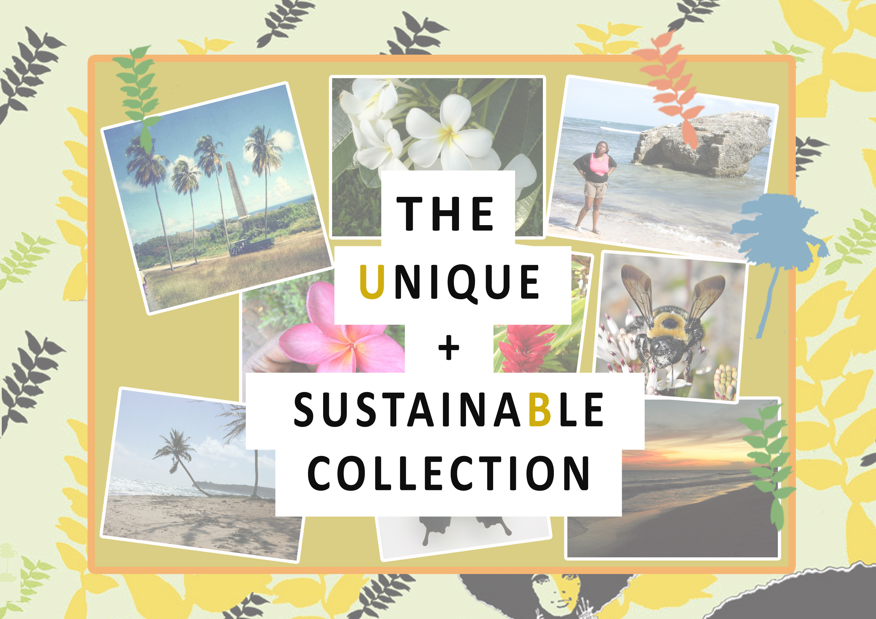 sustainable collection mood boad text copy